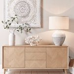 Chevron Oak Sideboard