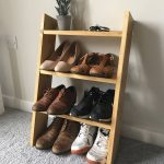 Chic and Simple Ladder-Style Shoe Rack