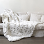 Chunky Cable Knit Blanket | Pingree Home