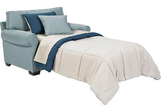 Cindy Crawford Home Bellingham Hydra Sleeper Chair–Sleepers (Blue)