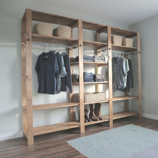Clothes Closet Storage Ideas