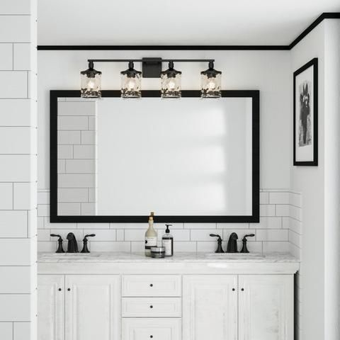 Colton Vanity in Aged Brass | Lighting Connection