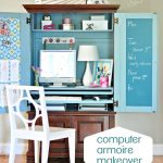 Computer Armoire Makeover | Centsational Style