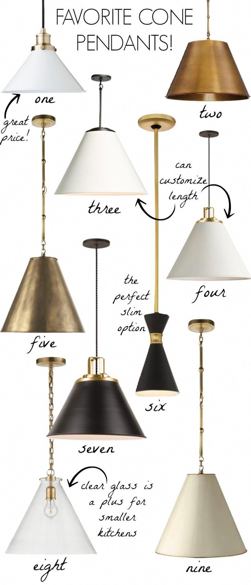 Cone Pendants: New Lighting for Our Kitchen!
