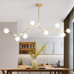 Contemporary Organic Branching 8 Light Chandelier for Dining Room