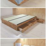 Contemporary Platform Double Bed Solid Oak | Futon Company