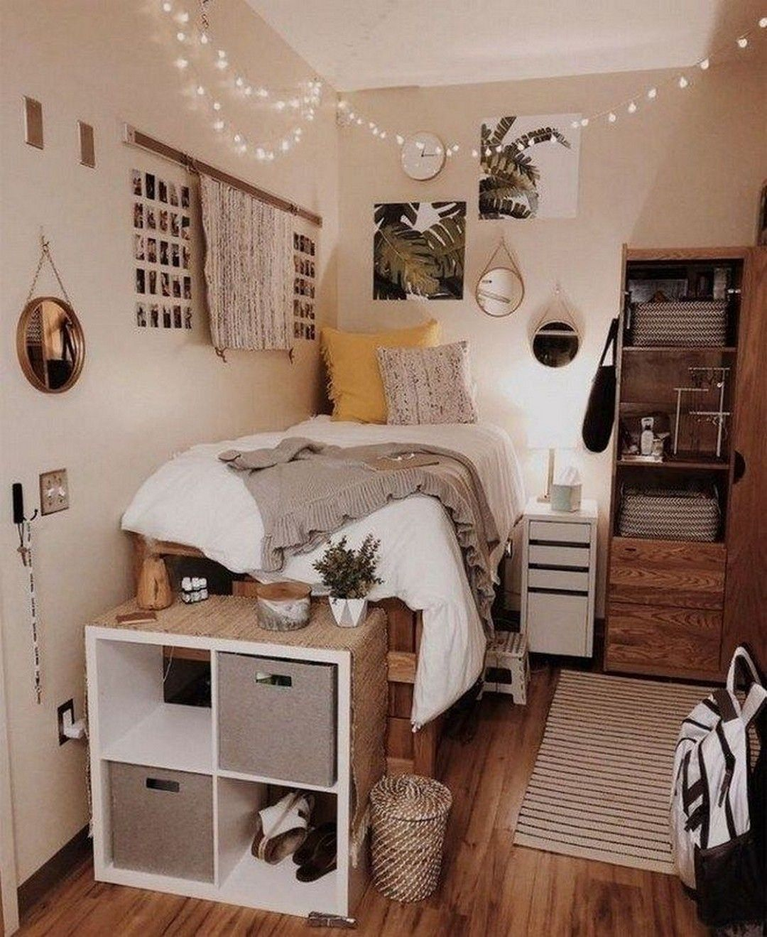 Cool 12+ Brilliant Dorm Room Organization Ideas On A Budget