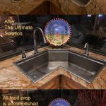 Corner Kitchen Sink made of Marine Grade Stainless
