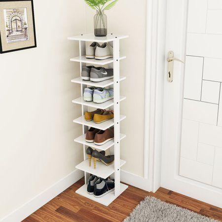 Costway Wooden Shoes Storage Stand 7 Tiers Shoe Rack Organizer Multi-shoe Rack Shoebox – Walmart.com