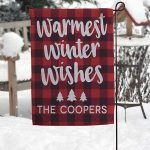 Cozy Cabin Personalized Garden Flag