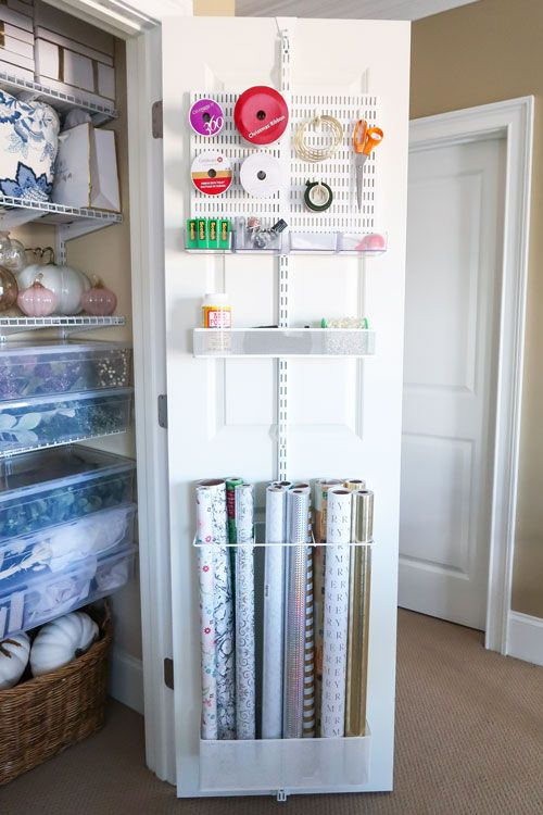 Create a Home Decor Closet and Gift Wrap Station of Your Dreams!
