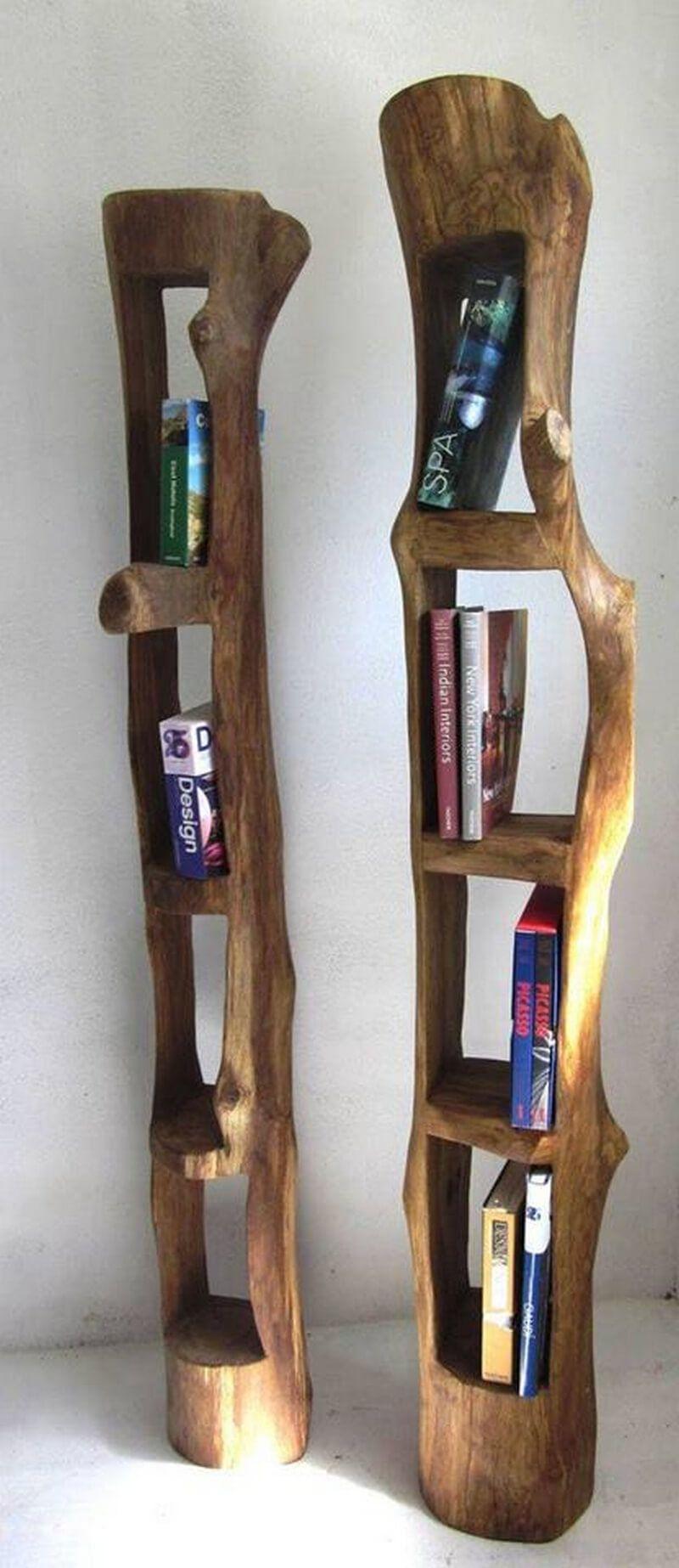 Creative Rustic Wood Logs Furniture Ideas