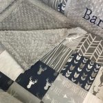 Crib bedding set baby bedding Navy  gray deer buck boy woodland baby bumperless bedding Crib set abusymother nursery set