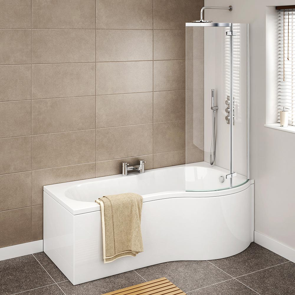 Cruze P Shaped Shower Bath | Available At Victorian Plumbing.co.uk