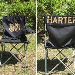 Custom Folding Chair, Personalized Chair, Beach Chair, Groomsman Gift, Custom Camp Chair, Game Day Chair, Personalized Chairs