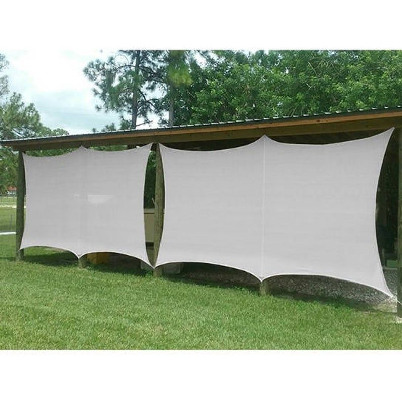 Custom Sized Butterfly Edge Sun Shade Sail for Patio, Awning, Garden, Pergola or Gazebo  -6 Colors Available