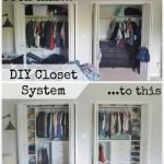 Custom small closet system - The Created Home