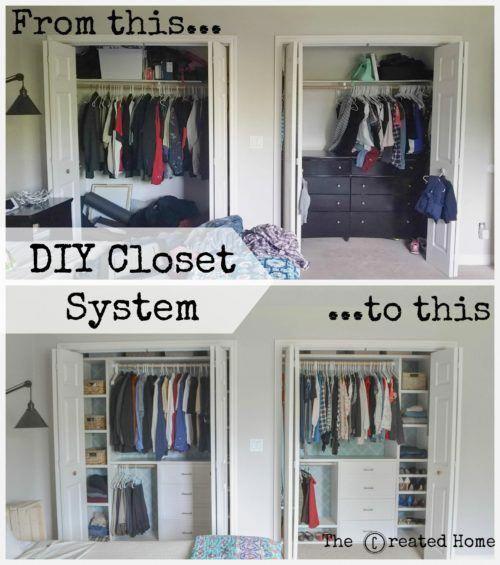 Custom small closet system – The Created Home