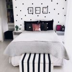 Cute Black and White Themed Teen Room with Clean Design - Cute Teenage Girl Bedr... - Home Decor Art
