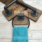DARK WALNUT Rustic Bathroom Set, Industrial Pipe Set, Full Bathroom Accessories, Rustic Decor, Industrial Bathroom,Farmhouse, Unique Set
