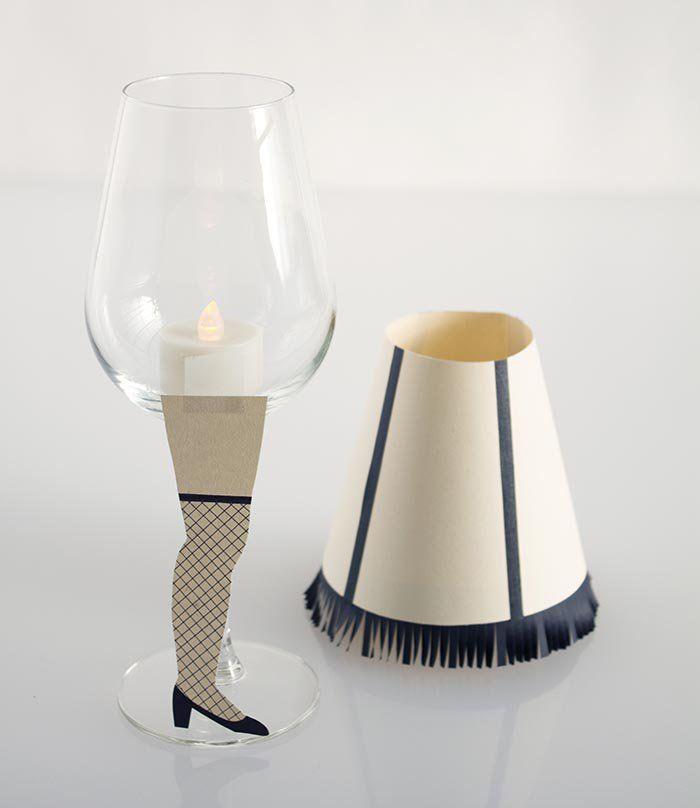DIY A Christmas Story Wine Glass Lamps | Make: