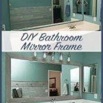 DIY Bathroom Mirror Frame for Under $10, Hello Hayley Blog