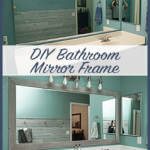 DIY Bathroom Mirror Frame for Under $10, Hello Hayley Blog