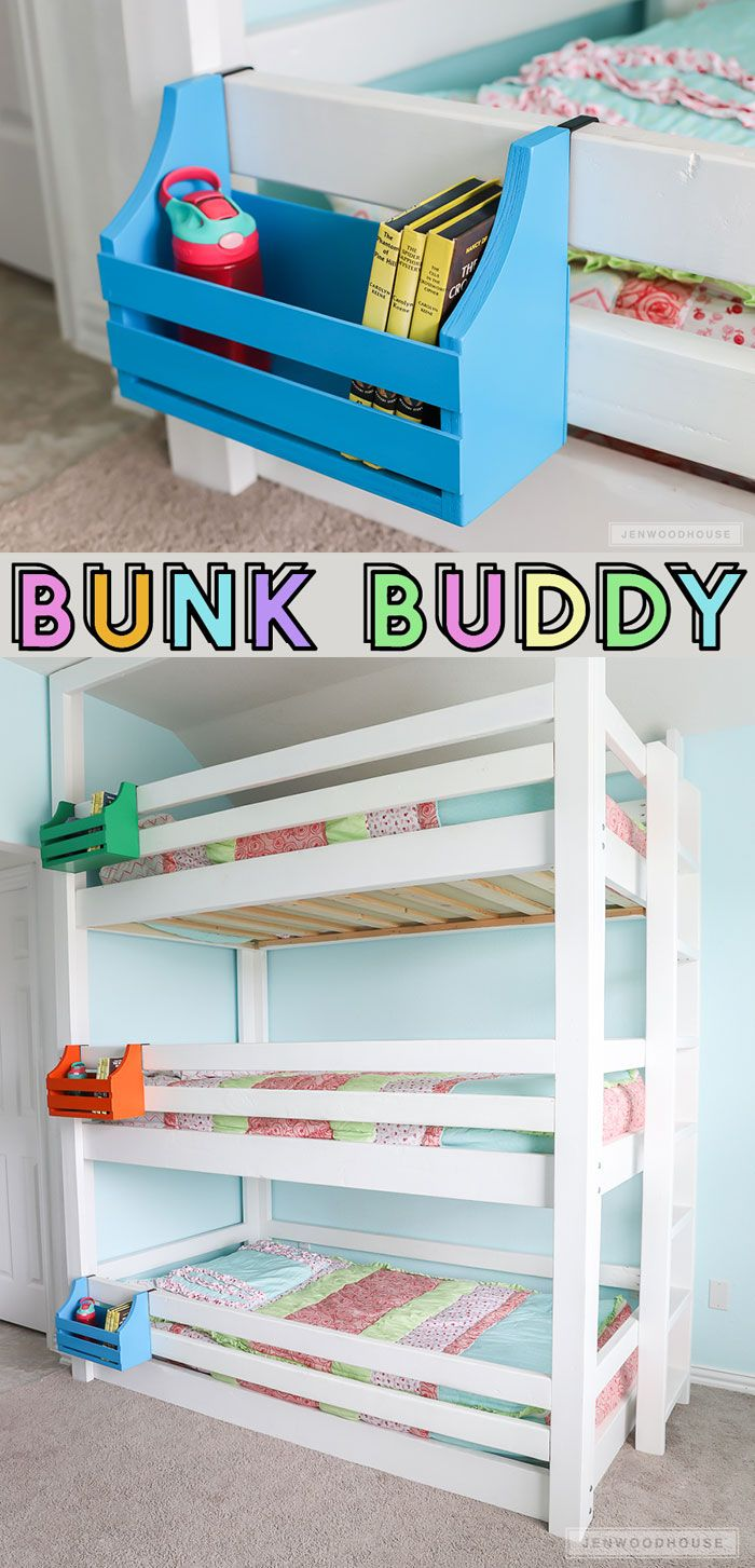 DIY Bunk Buddy (Bunk Bed Shelf)