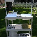 DIY Camp Kitchen w/Working Sink [Tutorial] : made from a stacking storage shelf ...