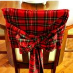 DIY Christmas Tartan Chair Covers
