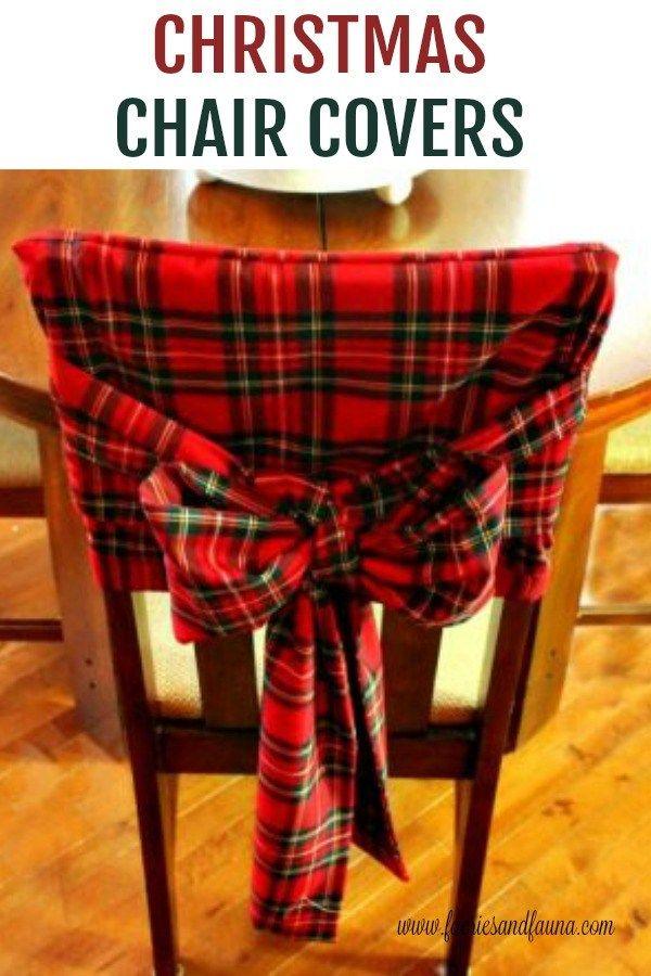 DIY Christmas Tartan Chair Covers