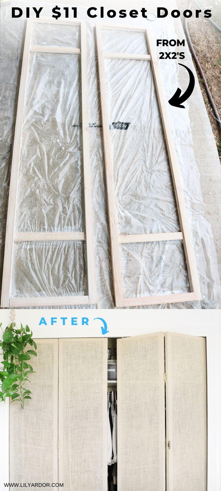 DIY Closet Doors under $50