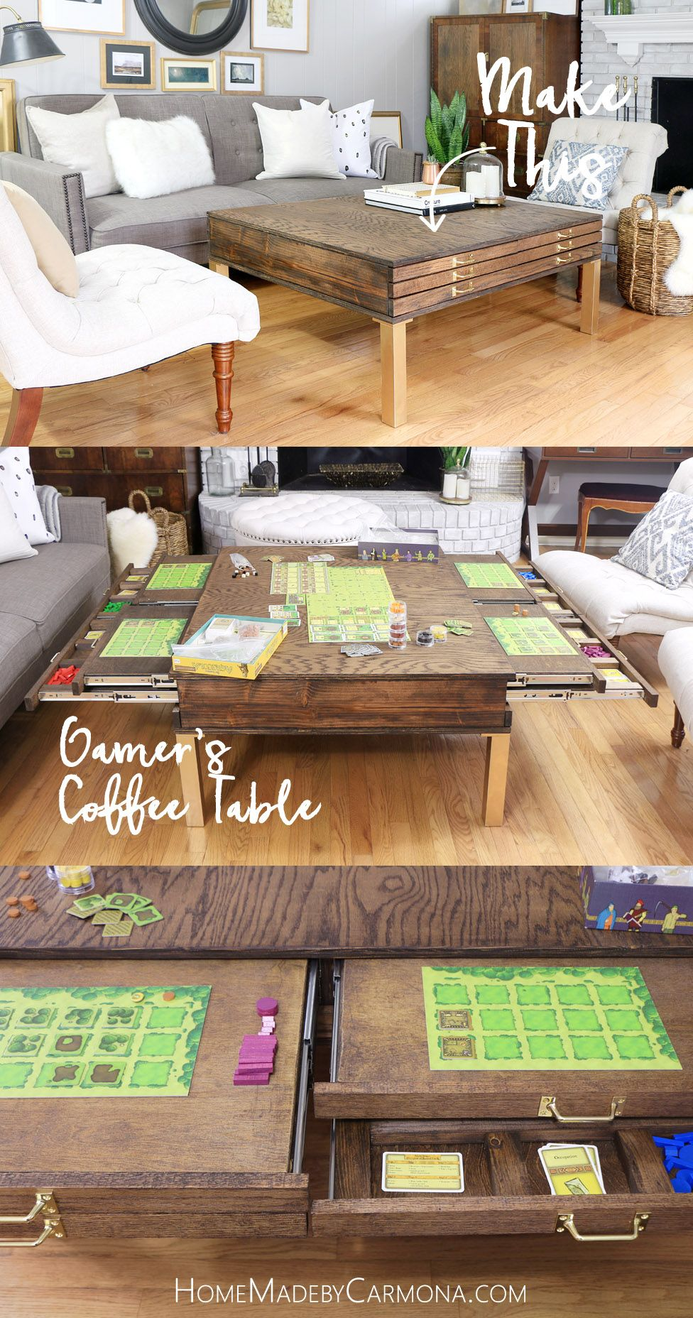 DIY Coffee Table With Pullouts – Home Made By Carmona