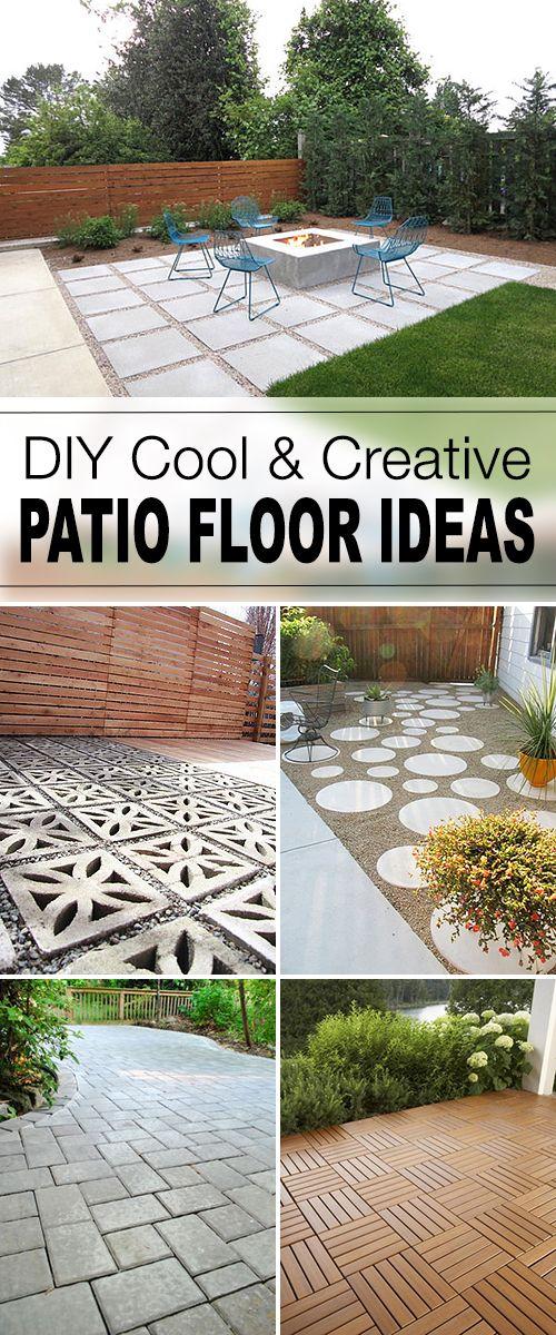 DIY Cool & Creative Patio Floor Ideas!
