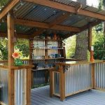 DIY Corrugated Metal Outdoor Bar #outdoorpatioideasonabudget - https://bingefashion.com/home