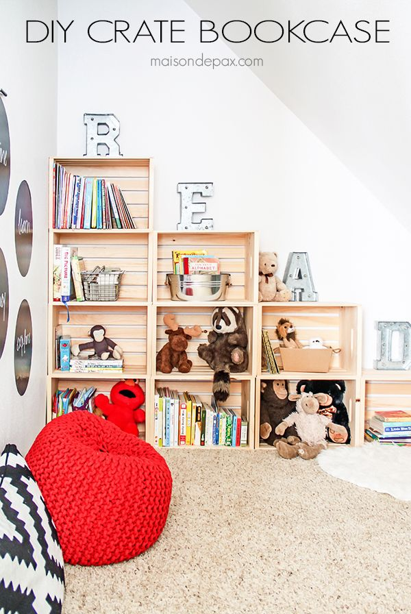 DIY Crate Bookcase – Maison de Pax