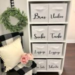 DIY Custom Labels For Storage Cubes Closet Organization Kitchen Organization Storage Bins Storage Boxes Storage Baskets Farmhouse Decor