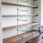 DIY Dining Room Open Shelving - The Wood Grain Cottage