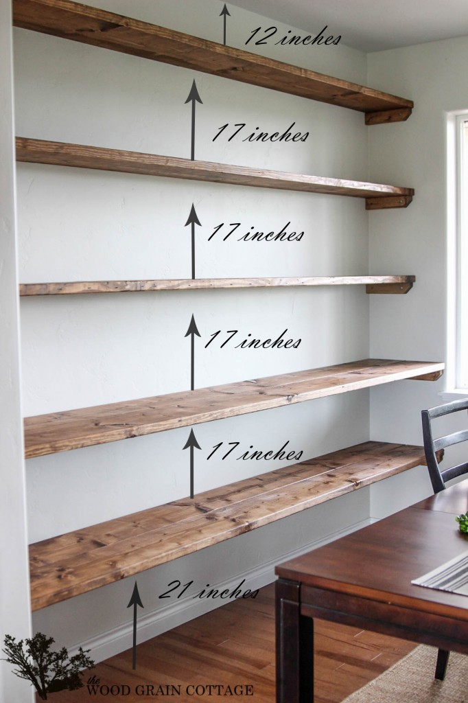 DIY Dining Room Open Shelving – The Wood Grain Cottage