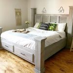 DIY Farmhouse Storage Bed--Free Woodworking Plans and Video Tutorial