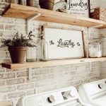 DIY Faux Brick Wall in Laundry Room - Beauty For Ashes