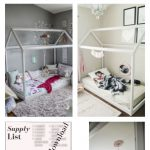 DIY House Frame Floor Bed Plan - D.I.Y -HOUSE-FRAME-FLOOR-BED-PLANS- Montessori...