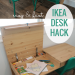 DIY IKEA Hemnes Desk Hack into Double-Duty Shared Kids Desk with Hidden Storage