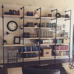 DIY Industrial Bookshelves