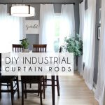 DIY Industrial Curtain rods + extra long DIY curtains | ASHES + IVY AT HOME