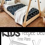 DIY Kids Teepee Bed