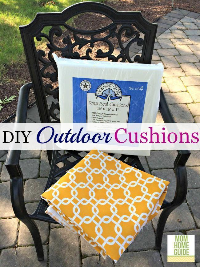 DIY Outdoor Seat Cushions – pickndecor.com/design