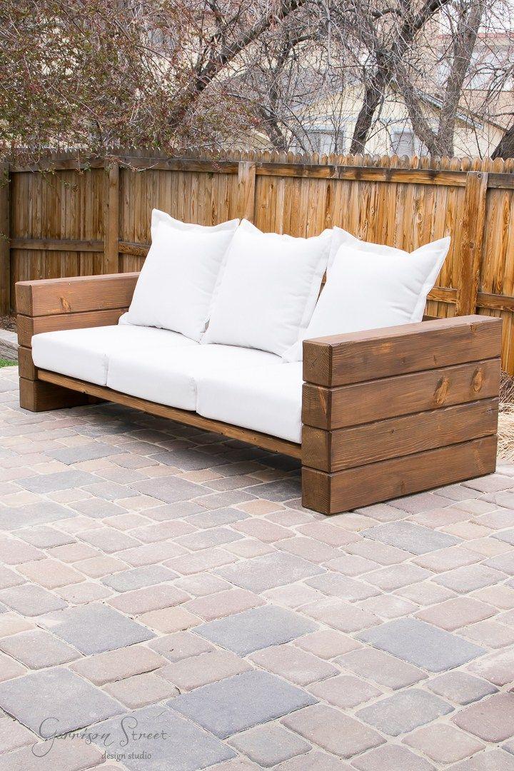 DIY Outdoor Sofa Full Tutorial | Garrison Street Design Studio