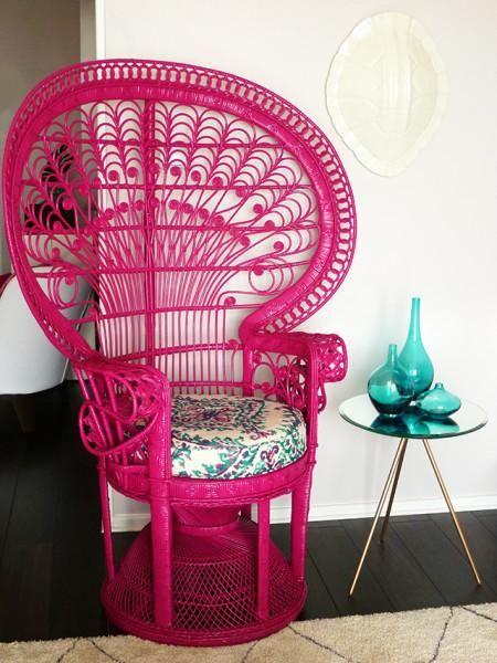 DIY : Painted Peacock Chair