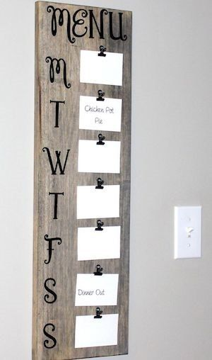 DIY Rustic Farmhouse Menu Board Wall Decor